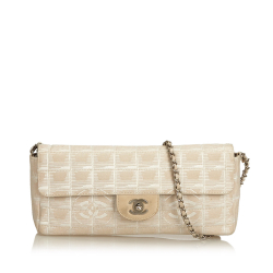Chanel AB Chanel Pink Canvas Fabric New Travel Chain Flap FRANCE
