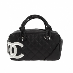 Chanel Cambon mini handbag black and white