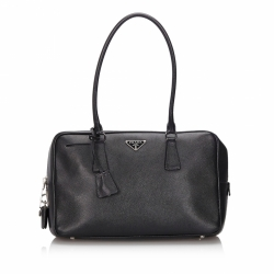 Prada Saffiano Leather Bauletto Shoulder Bag