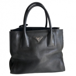 Prada Black grained leather bag