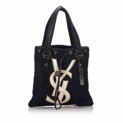 Yves Saint Laurent Cotton Kahala Tote Bag