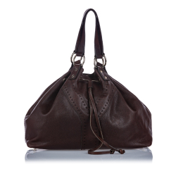 Yves Saint Laurent Leather Double Sac Tote Bag