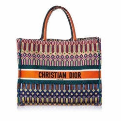 Christian Dior Embroidered Book Tote