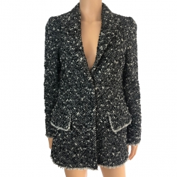 Dolce & Gabbana Short jacket in wool, mohair and polyamide