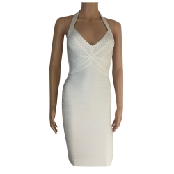 Herve Leger White dress with naked back