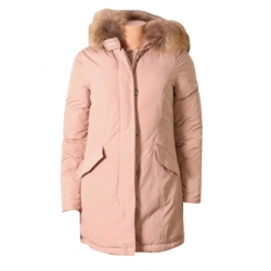 Woolrich Pink jacket with removable fur collar