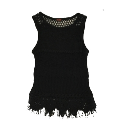 Christian Lacroix Black mesh top