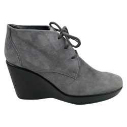 Hogan Grey boots with wedge heels