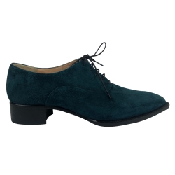 Christian Louboutin Dark green suede derbies