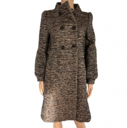 Red Valentino Coat in mohair wool and alpaca mottled