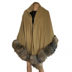 Fendi Cashmere and Vintage fur cape