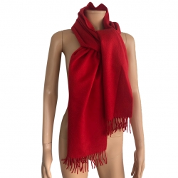 Eric Bompard Red cashmere scarf