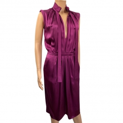 Valentino Violet silk dress