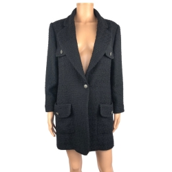 Chanel Black wool coat