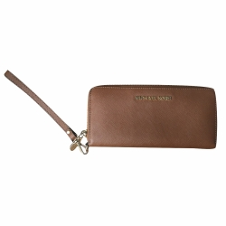 Michael Kors Large thin wallet with strap, camel colour