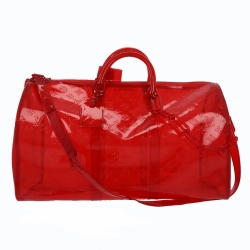 Louis Vuitton X Virgil Abloh Keepall Bandouliere Grenadine Red 50