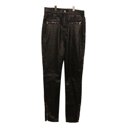 7 For All Mankind NEW with TAGS black coated jeans (leather-like)