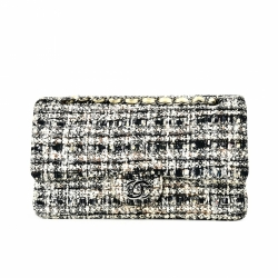 Chanel Classic Tweed Double Flap Bag