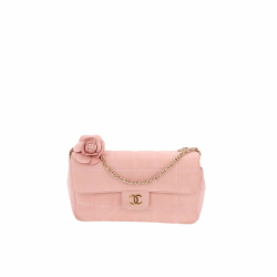 Chanel Chocolate bar Mini Flap Camelia bag