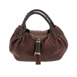 Fendi Spy in brown aged leather