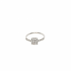 DD Gioielli 18K white gold ring with diamonds