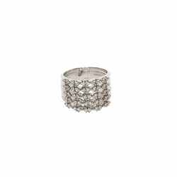 DD Gioielli 18K white gold and diamonds ring