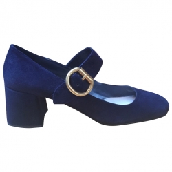 Prada Navy Buckle Court Shoes 40.5