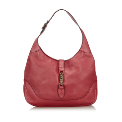 Gucci Red Leather New Jackie Satchel Italy