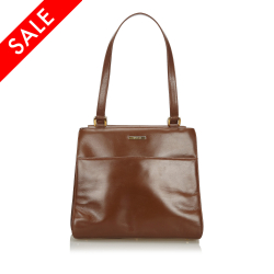Gucci B Gucci Brown Leather Tote Bag Italy