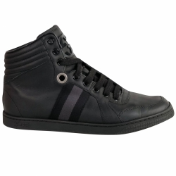 Gucci Black leather high-top sneaker