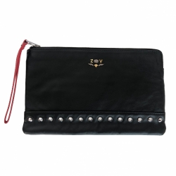 Zadig & Voltaire lamb leather pouch