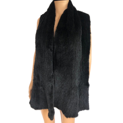 Fourrure Authentique Knitted mink scarf