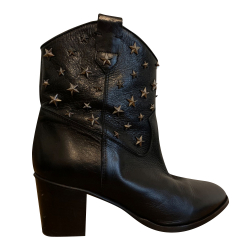 Red Valentino Studded leather Western boots