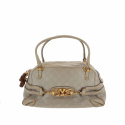 Gucci Shoulder bag in light grey canvas