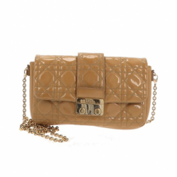 Christian Dior Lady Dior Patent Clutch