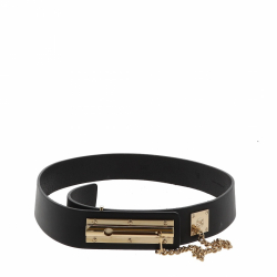 Chanel belt in black leather