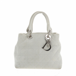 Christian Dior Lady Dior handbag in white leather
