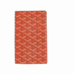Goyard wallet in orange leather