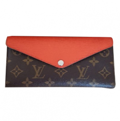 Louis Vuitton Epi Leather Wallet orange color & Monogram