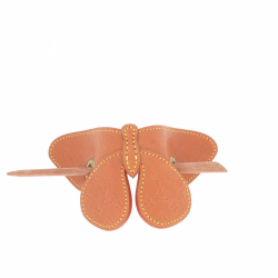 Louis Vuitton Brown Monogram Leather Butterfly Hair Barrette
