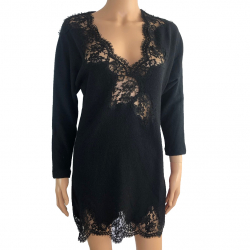 Ermanno Scervino Wool and lace dress