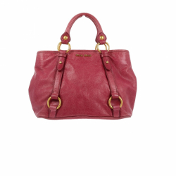 Miu Miu handbag in pink leather