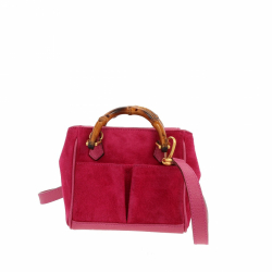 Gucci Mini Bamboo handbag with leather strap