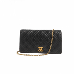 Chanel Vintage Leather Single Flap Clutch