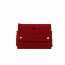 Hermès purse in red felt