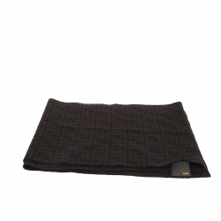 Fendi Scarf in brown and black wool