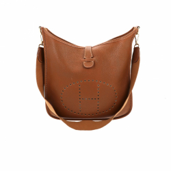 Hermès light brown Togo leather Evelyne Bag