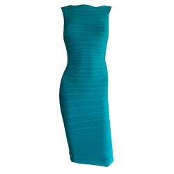 Herve Leger Turquoise Green Dress