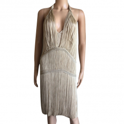Christian Dior Golden silk thread dress