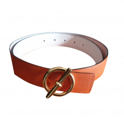 Hermès Glénan belt buckle and belt leather 32 reversible